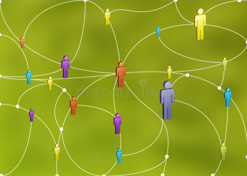 Human Network stock illustration