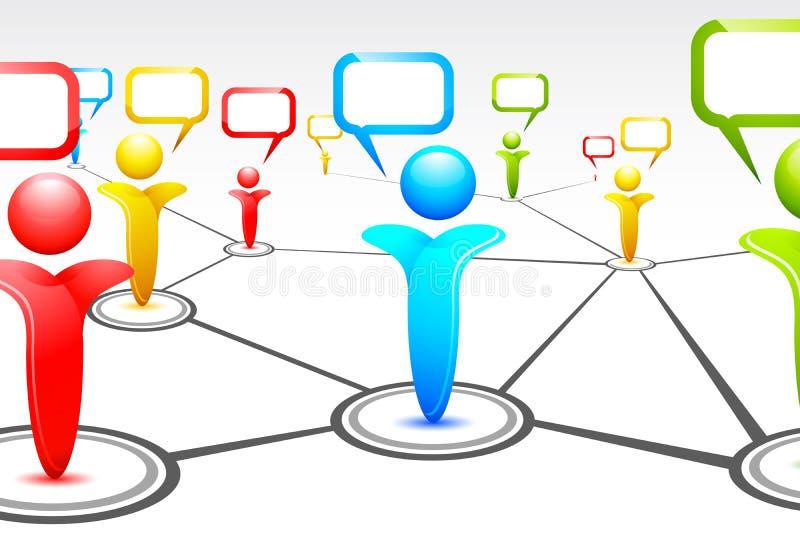 Human Networking royalty free illustration