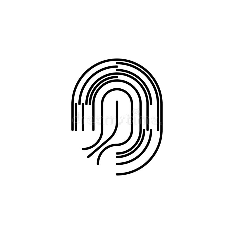 Human organ fingerprint outline icon. Signs and symbols can be used for web, logo, mobile app, UI, UX vector illustration