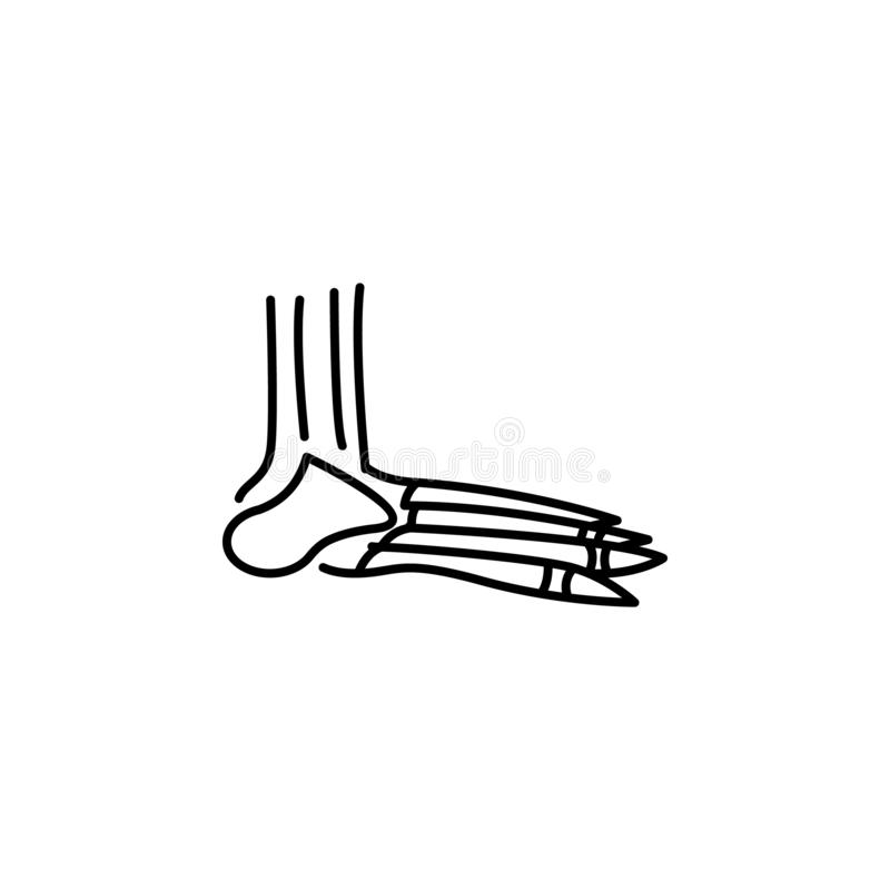 Human organ foot bones outline icon. Signs and symbols can be used for web, logo, mobile app, UI, UX royalty free illustration