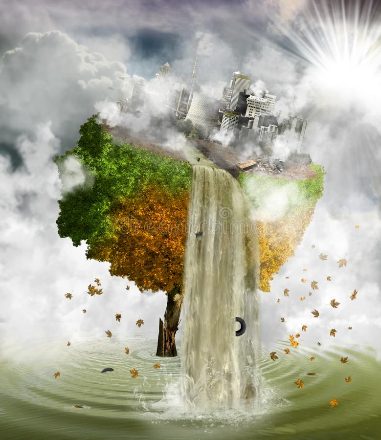 Free Human Polluting Environment, Concept Stock Image - 147800861