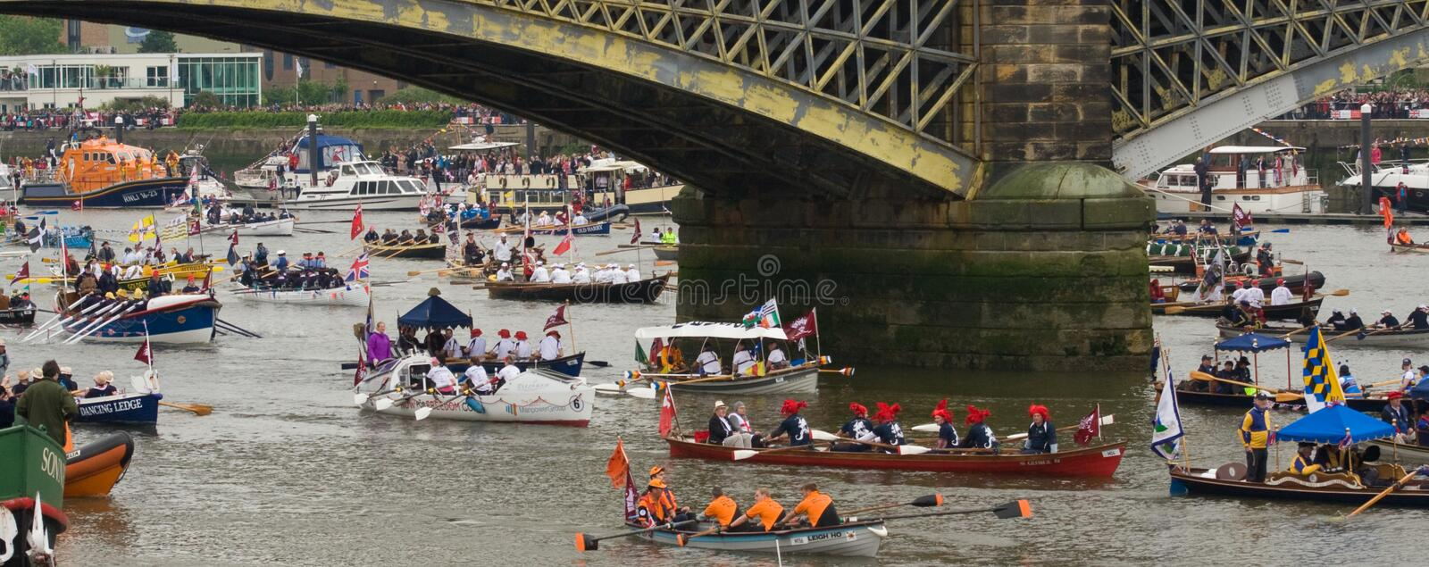 The Human Power Boats At The Royal Pageant Editorial Stock Image