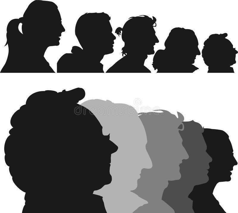 Human profiles vector illustration