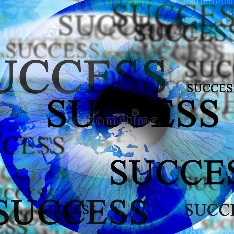 Human pupil with'success' stock illustration