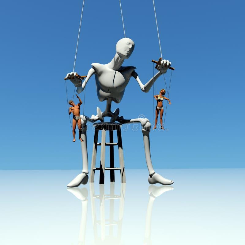 Human puppets vector illustration