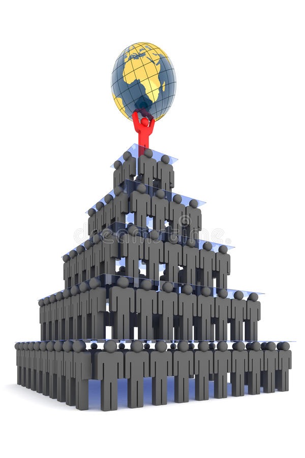 Download Human pyramid stock illustration. Image of leader, concept - 11396078