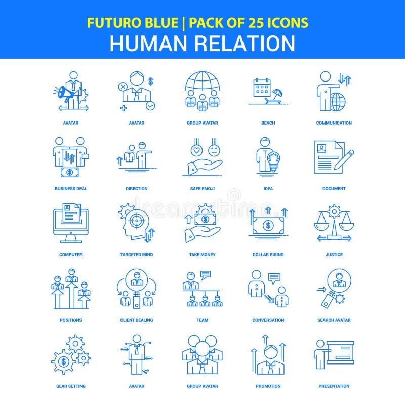 Human Relation Icons - Futuro Blue 25 Icon pack vector illustration