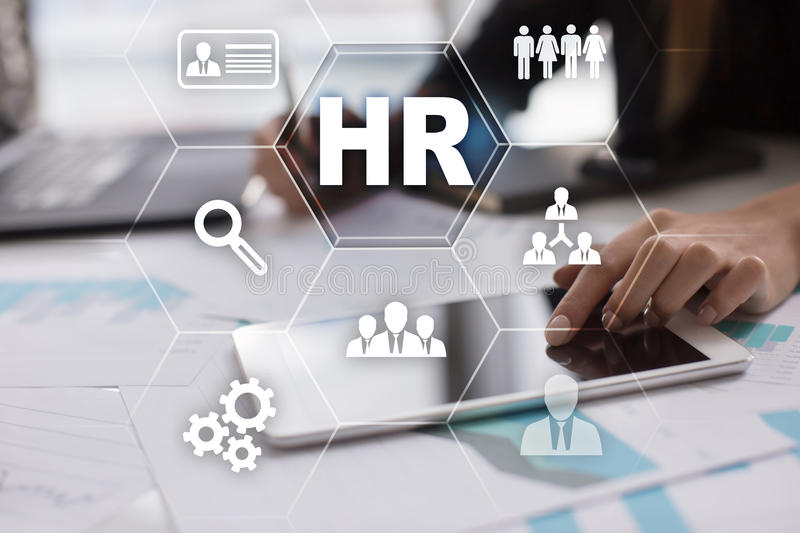 Human resource management, HR, recruitment and teambuilding. Business concept. stock images