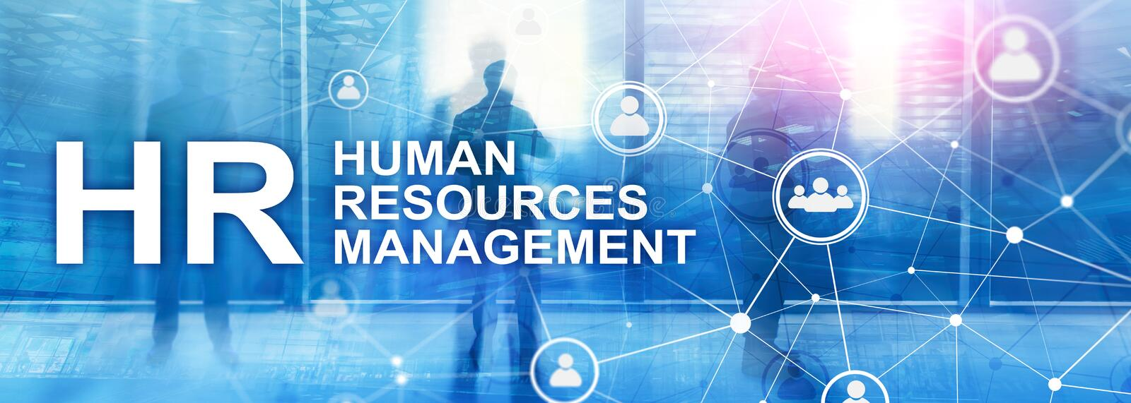 Human resource management, HR, Team Building and recruitment concept on blurred background stock photography