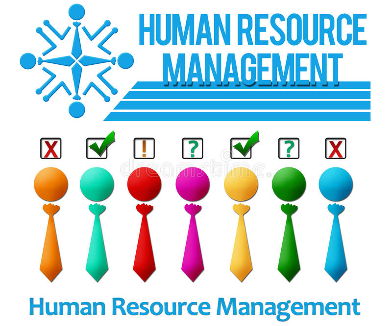 Human Resource Management Set royalty free illustration