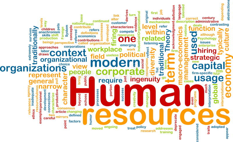 Human Resources Background Concept Royalty Free Stock Photos