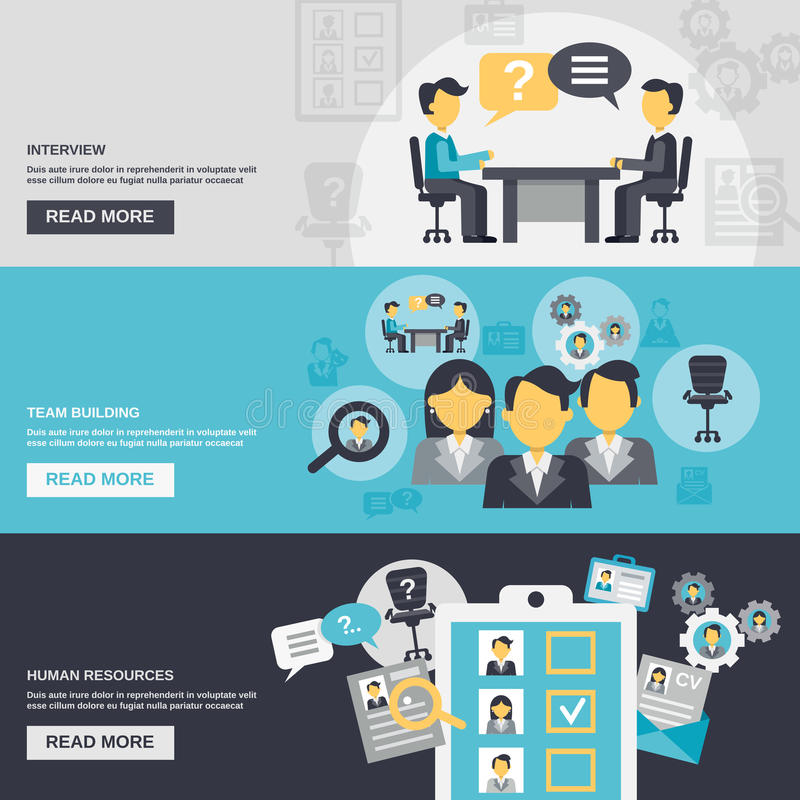Human Resources Banner royalty free illustration