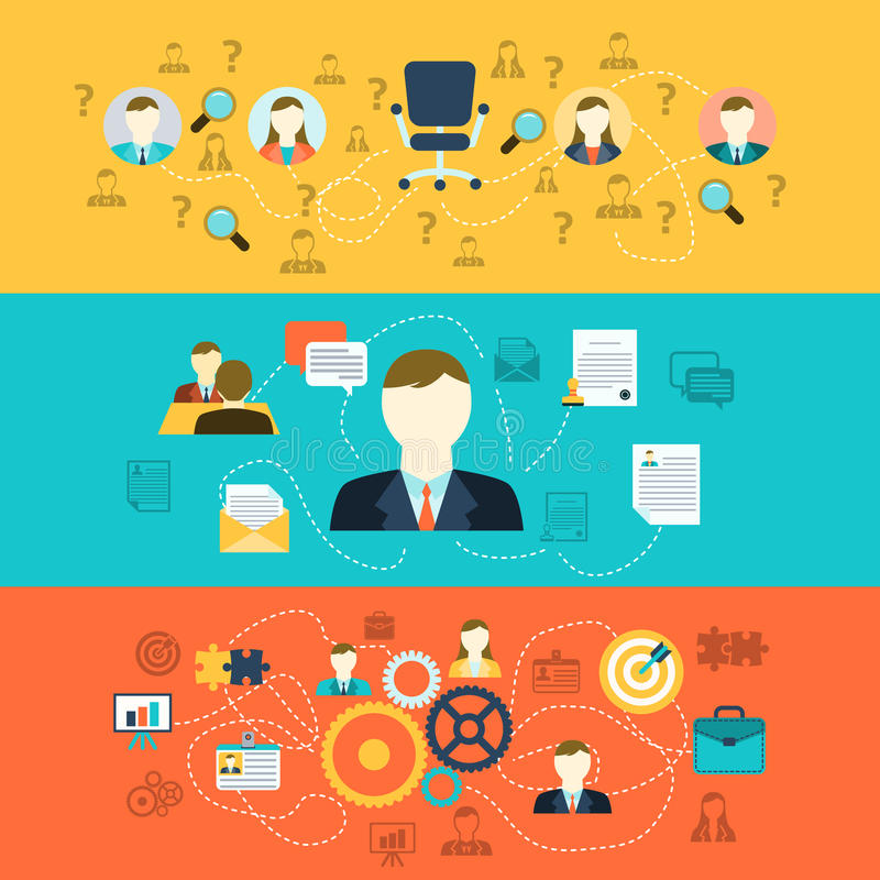Human resources banners stock illustration