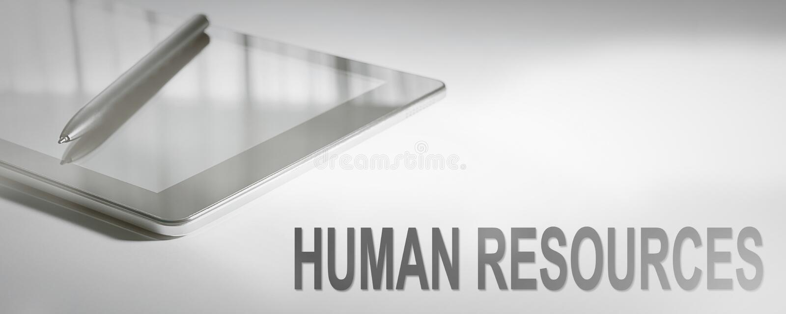 HUMAN RESOURCES Business Concept Digital Technology. royalty free stock image