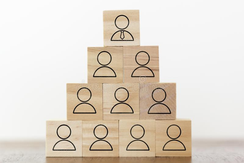 Human resources, business corporation and leadership concept royalty free stock photos