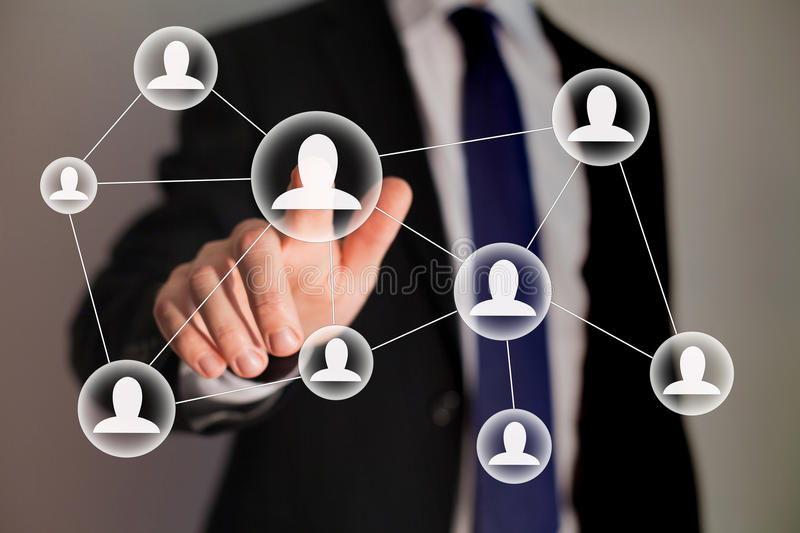 Human resources or business team concept stock image