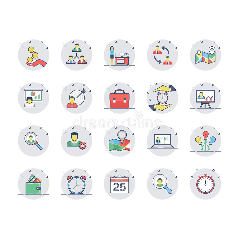 Human Resources Colored Line Icons Set 2. Get your next human resource icons that you can use in your project related business, human management and vector illustration