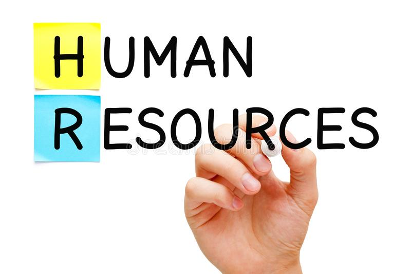 Human Resources Concept Handwritten With Black Marker royalty free stock photo