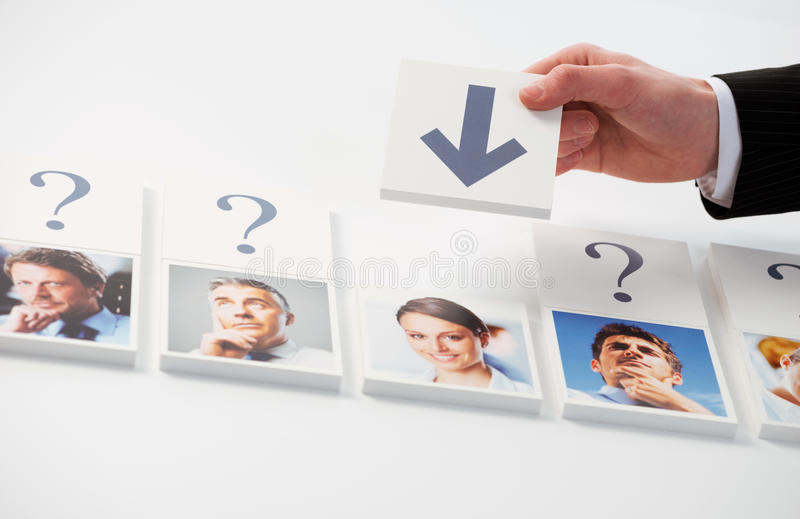 Human Resources. Concept. Portraits of a group of business people royalty free stock photo