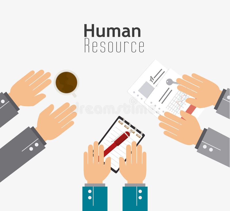 Human resources design. royalty free illustration