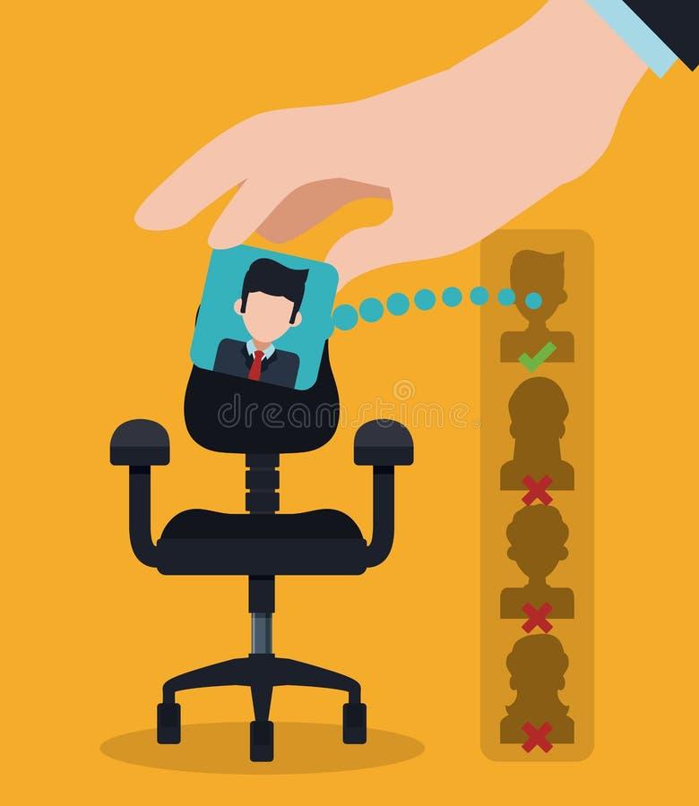 Human resources design. vector illustration