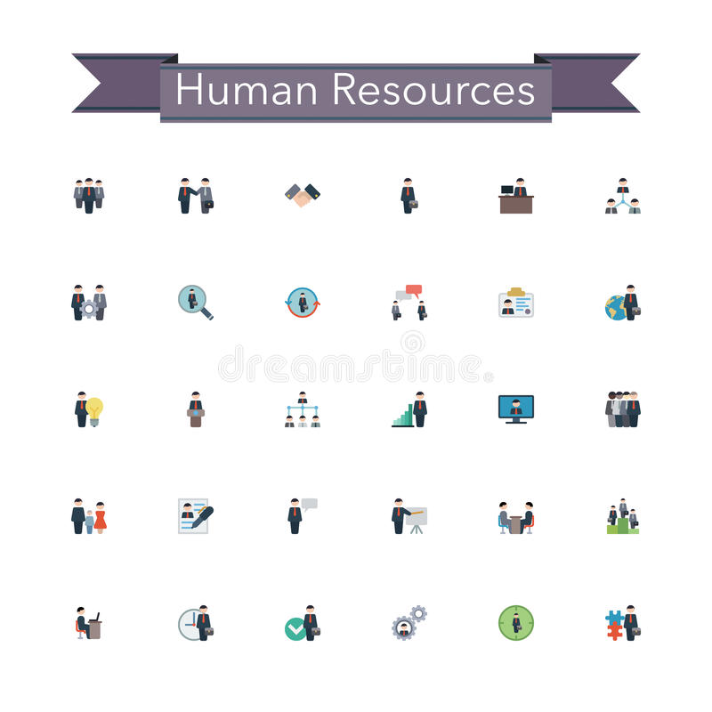Download Human Resources Flat Icons stock vector. Illustration of internet - 58903659
