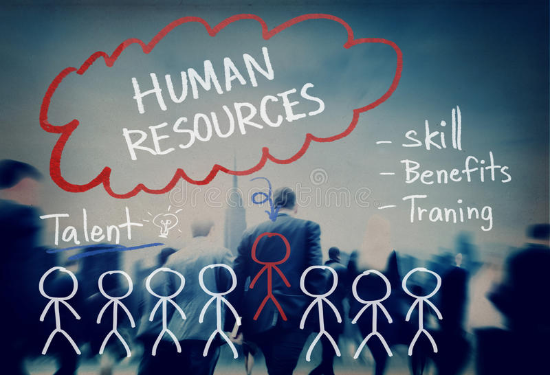 Human Resources Hiring Job Occupation Concept.  royalty free stock photos