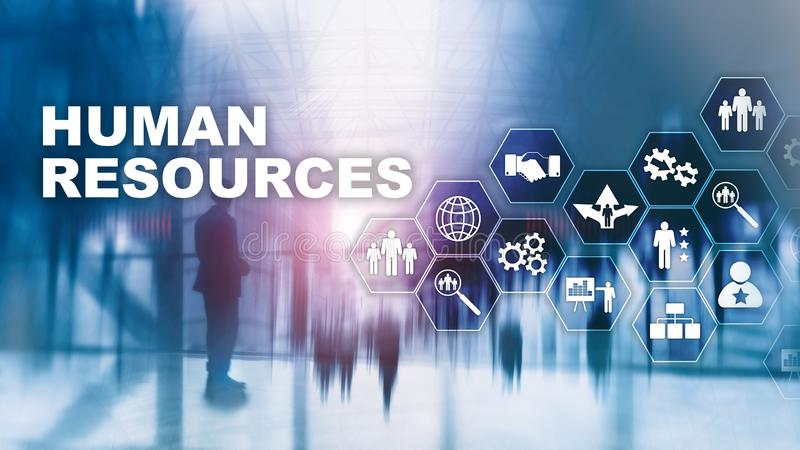 Human Resources HR management concept. Human resources pool, customer care and employees. Human Resources HR management concept. Human resources pool, customer stock images
