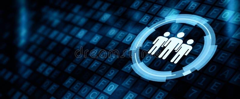 Human Resources HR management Recruitment Employment Concept.  vector illustration