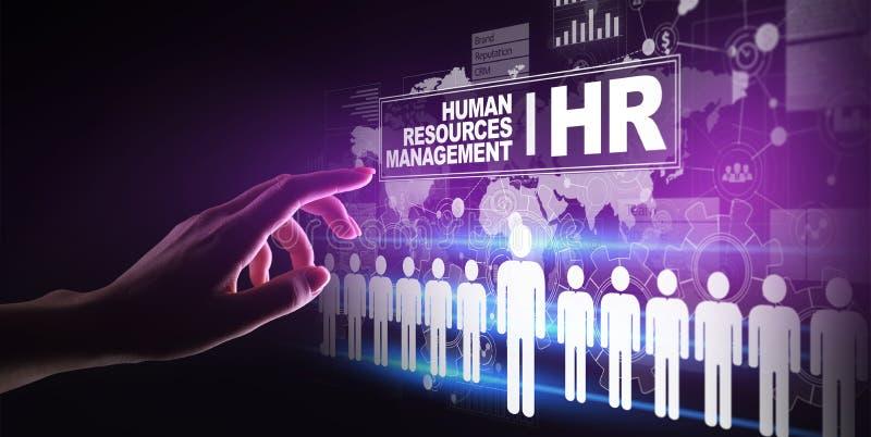 Human Resources, HR management, Recruitment, Talent Wanted, Employment Business Concept. Human Resources HR management, Recruitment, Talent Wanted, Employment stock illustration
