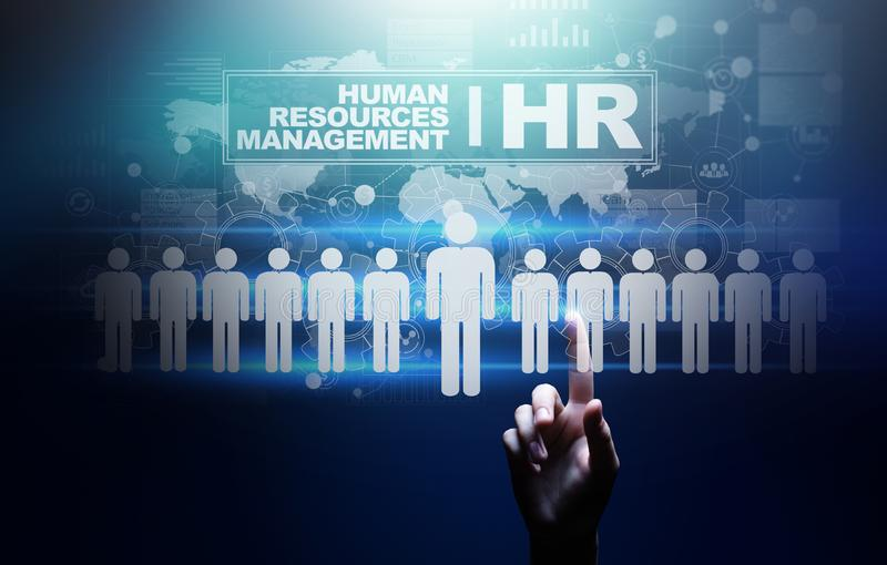 Human Resources, HR management, Recruitment, Talent Wanted, Employment Business Concept. royalty free illustration