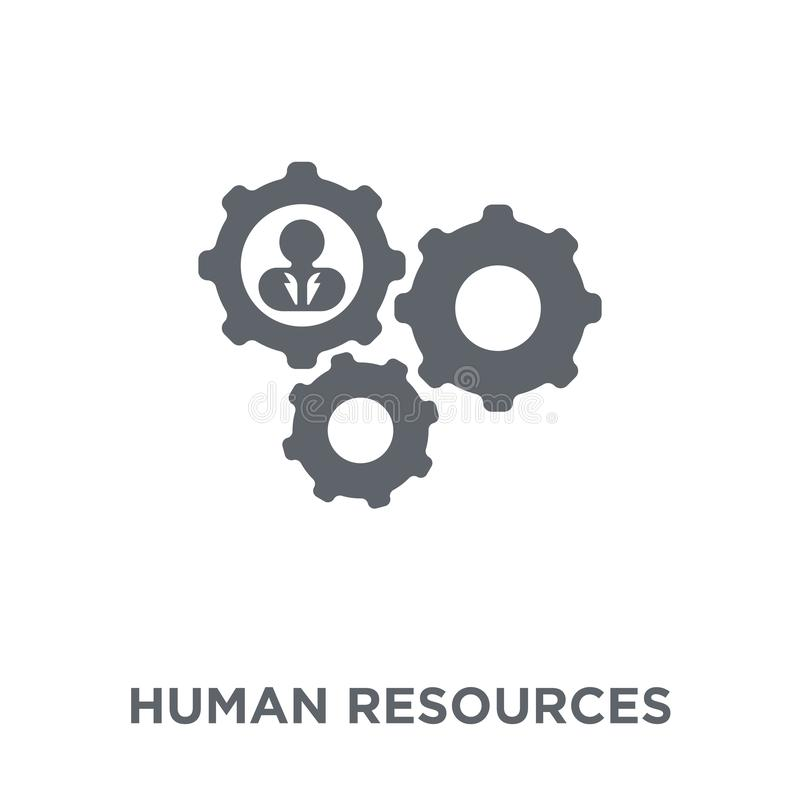 Human resources icon from Human resources collection. stock illustration
