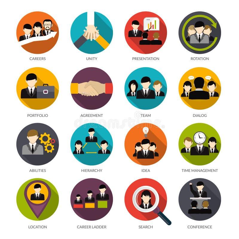 Human Resources Icons Set royalty free illustration