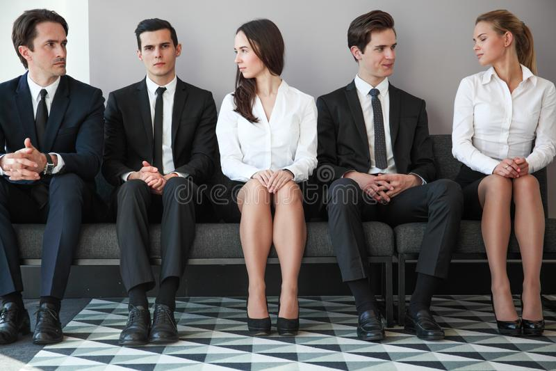 Human Resources Interview stock photography