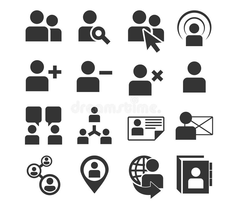Download Human Resources And Management Icons Set. Stock Vector - Image: 36979248