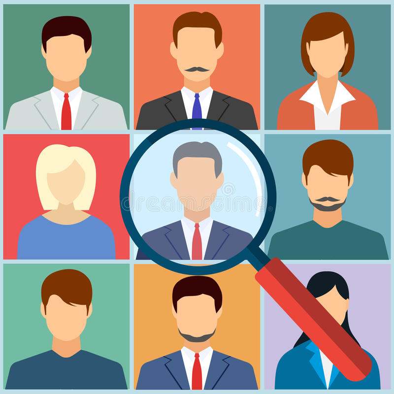 Human resources management select employee vector illustration
