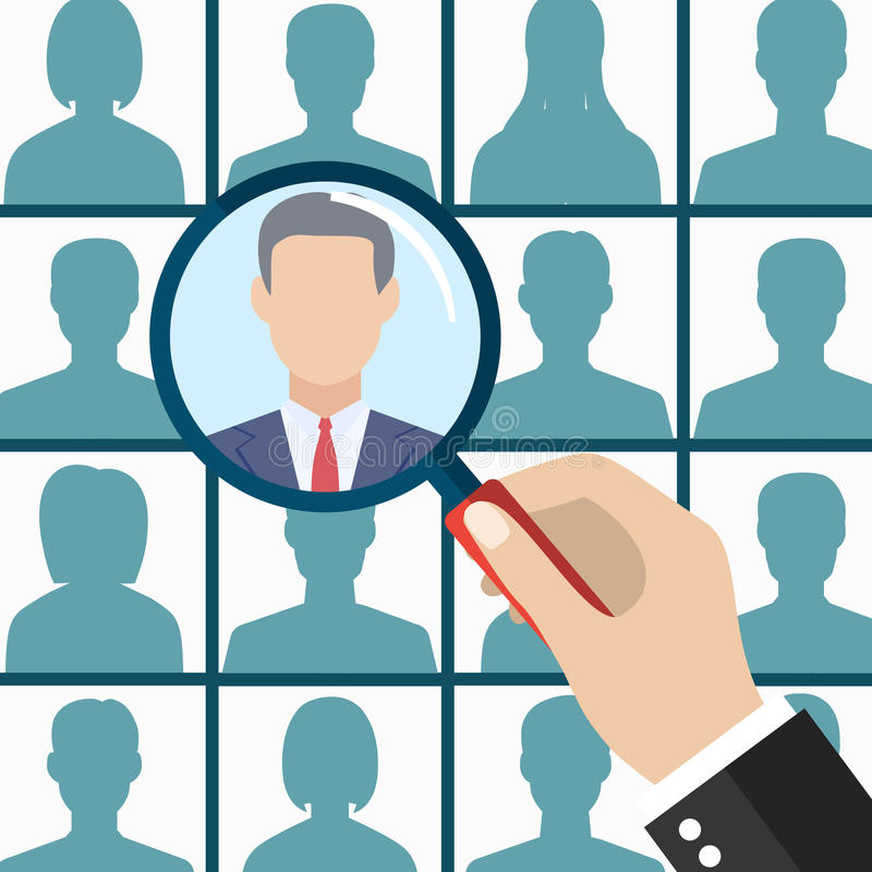 Human resources management select employee royalty free illustration