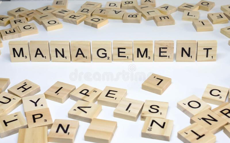 Human resources management term wooden abc management royalty free stock images