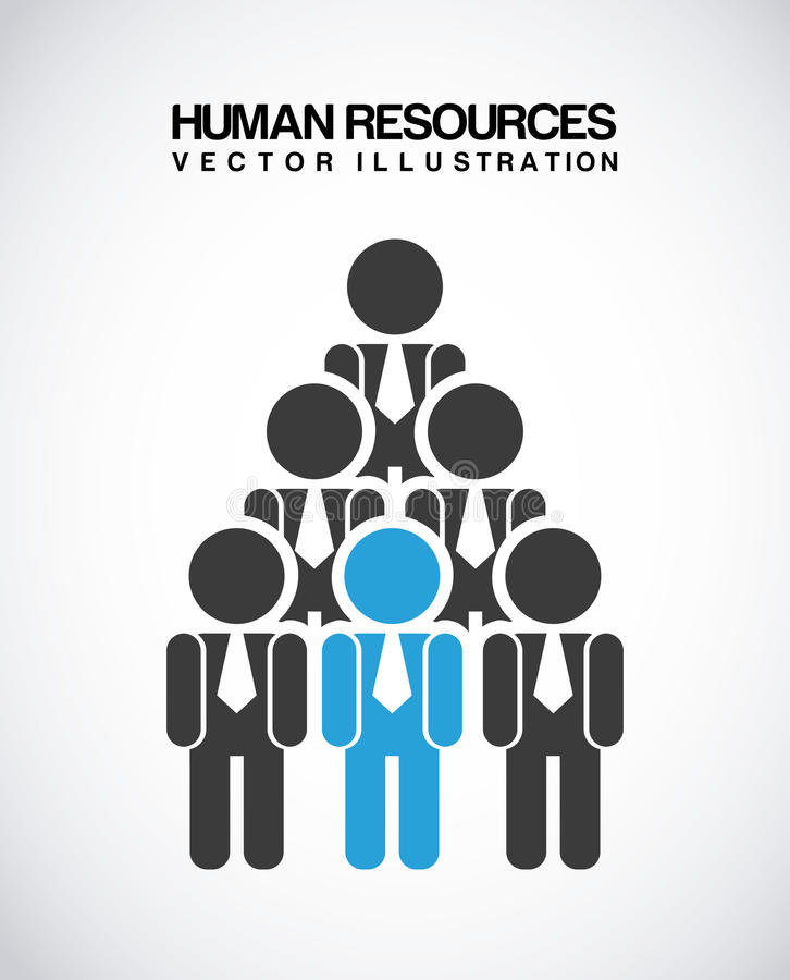 Human resources. Over gray background vector illustration royalty free illustration