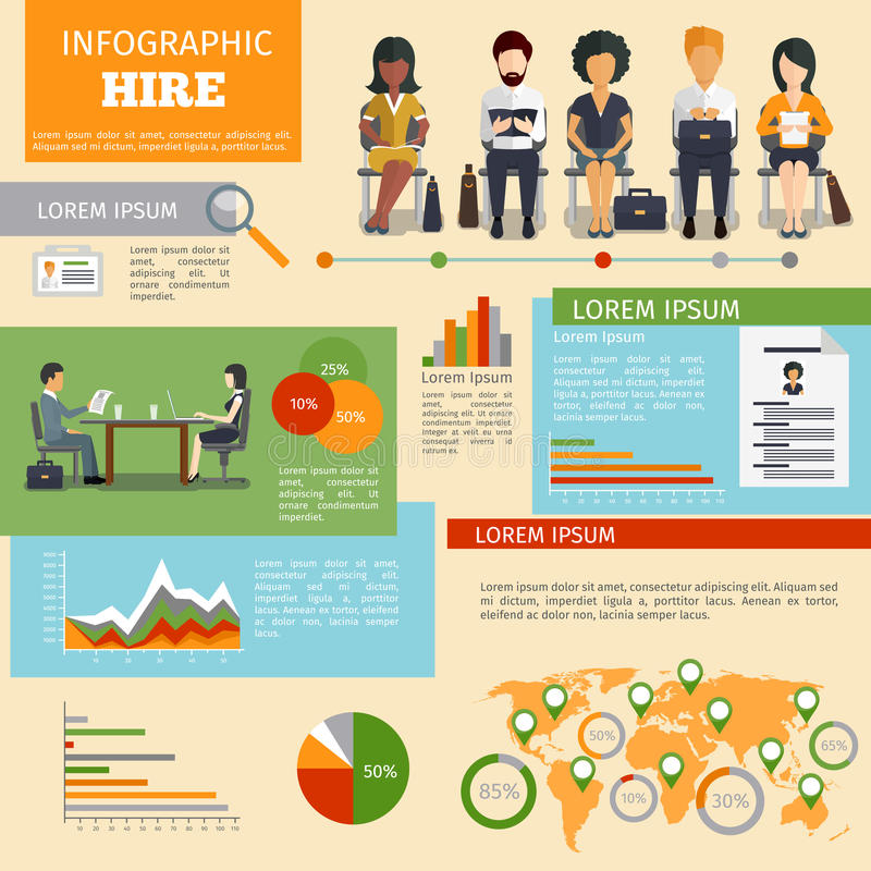 Human resources personnel recruitment vector vector illustration