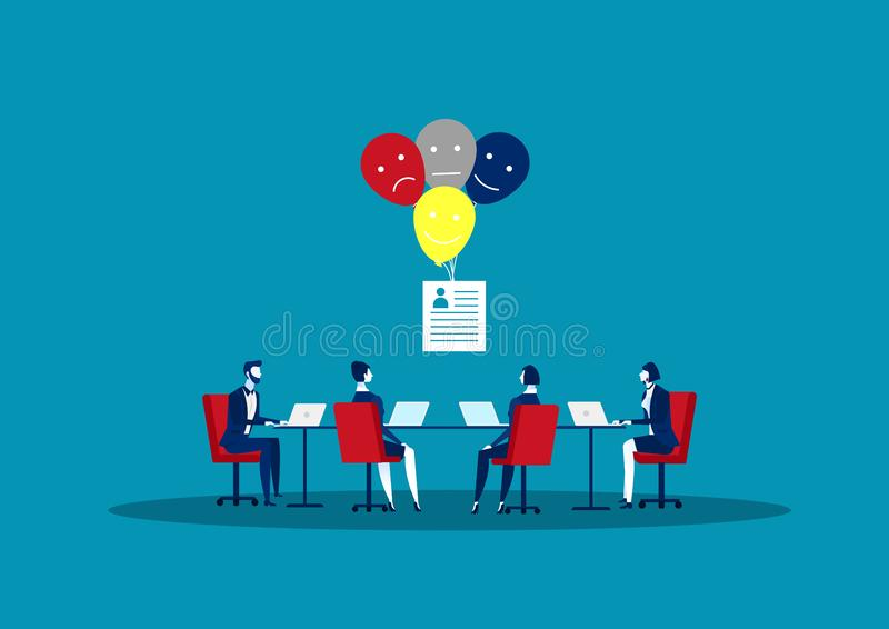 Human Resources, Recruitment Concept documents cards and posters. Vector illustration HR, hiring, application form for employment,. Looking for atitiut stock illustration