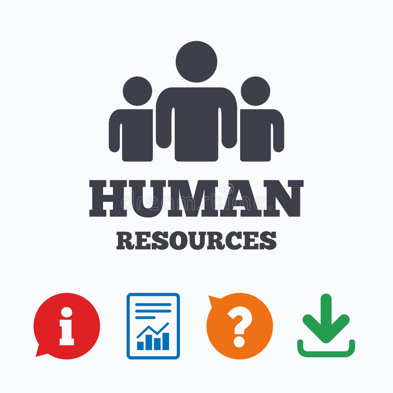 Human resources sign icon. HR symbol vector illustration