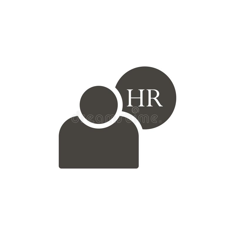 Human resources, user vector icon. Simple element illustrationHuman resources, user vector icon. Material concept vector royalty free illustration