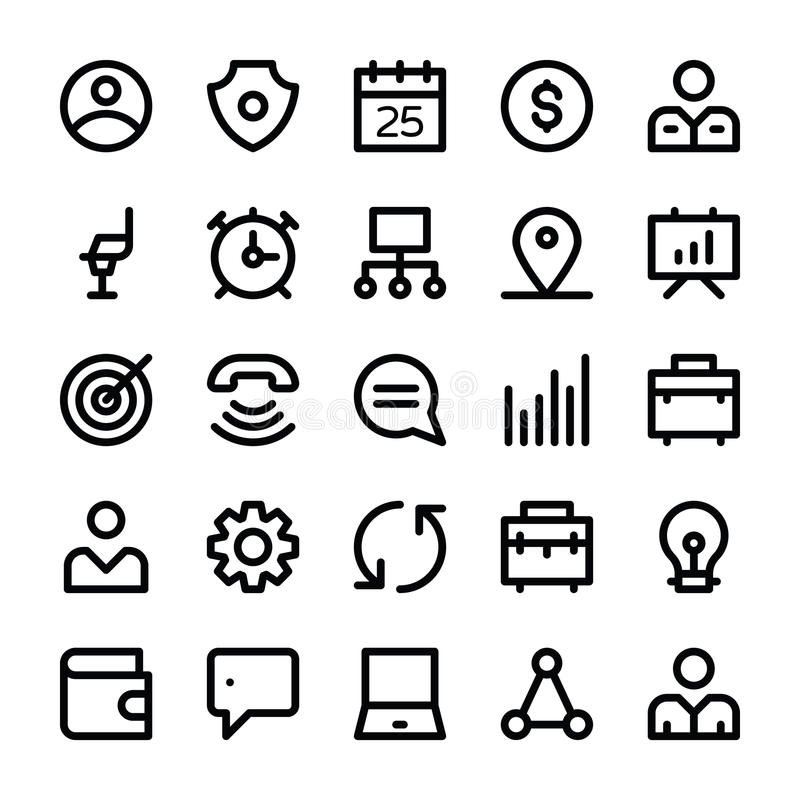 Human Resources Vector Line Icons 2. Get your next human resource icons that you can use in your project related business, human management and presentations royalty free illustration