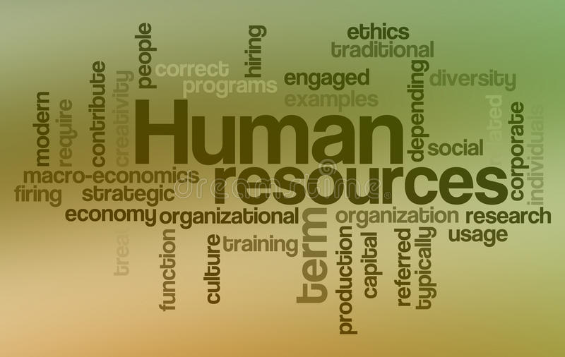 Download Human Resources - Word Cloud Stock Illustration - Image: 14350932