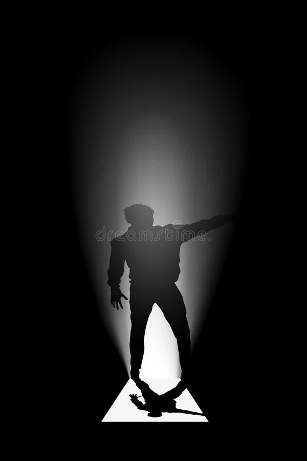Human silhouette door royalty free illustration