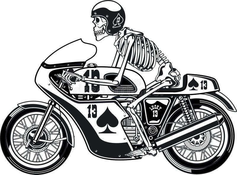 Reaper Racer Mens PRINTED T-SHIRT Grim Bike Biker Motorcycle Scythe Ride Rider