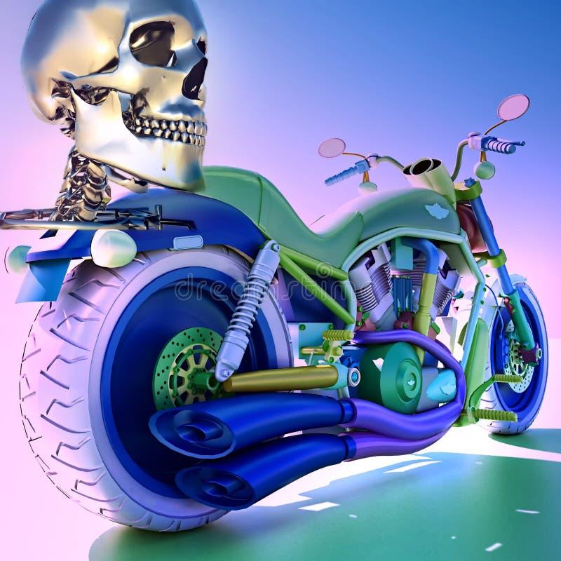 Download Human skleton on motorbike stock photo. Image of broke - 26826648
