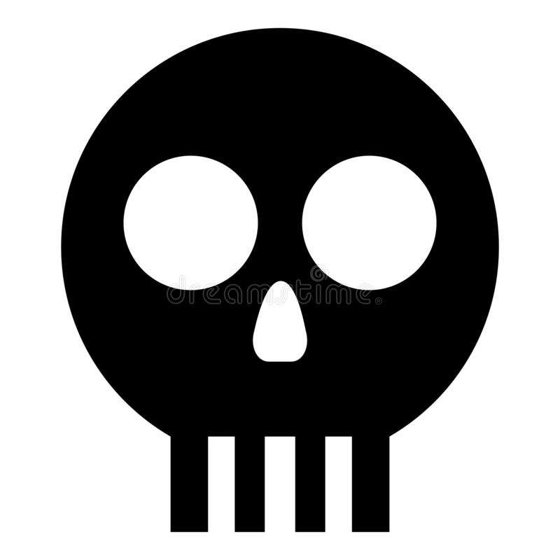 Human skull Cranium icon black color vector illustration flat style image vector illustration