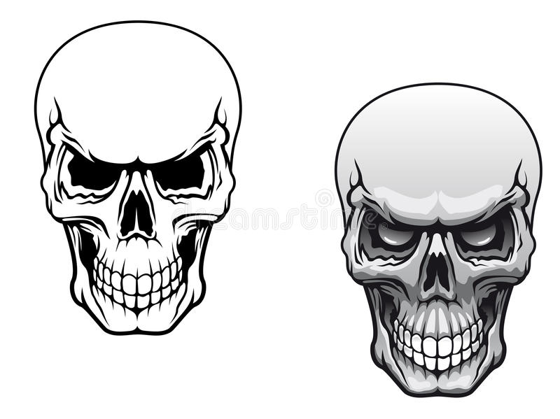 Download Human skulls stock vector. Image of cartoon, hell, decoration - 26213845